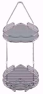 آویز حمام کنج 2 طبقه پلوتون مدل قلب