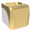 جا دستمال کاغذی بنتی کوچک طلایی